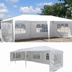 Party Canopy Tent Outdoor Event Gazebo Wedding Pavilion Wind Sun Shade X for sale online Patio Tents, Bbq Gazebo, Canopy Outdoor, Canopy Tent, Canopies, Party Canopy, Sheltered Housing, Outdoor Shelters, Tent Reviews