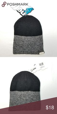 57f82d597a3 NWT Neff Duo Beanie. Heather BlackBeanieBrim ...