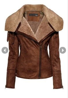 Brown Leather Shearing Jacket