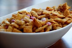 caramel chex mix. I've been looking for this for years! We used to make it with nuts!