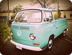 VW work truck seen near Barnegat NJ. The most deelish color ever!