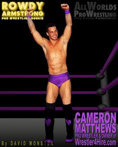 CAMERON MATTHEWS, legendary Pro & Erotic Wrestler, makes a cameo in the new ROWDYARMSTRONG.com novel. A handsome heel, but also a cute little jobber boy who suffers beautifully. As owner of www.Wrestler4Hire.com, he's the Hugh Hefner of the Gay Wrestling World, or a hot version of Vince McMahon.  He will also appear in the sequel of the AllWorldsProWrestling.com Multi-choice Text Game. #CameronMatthews #W4H #Wrestler4Hire #WWE #GayProWrestling #Gay #ProWrestling #GayWrestling #EroticWrestling Wrestling Games, Wrestling News, Scott Evans, Confused Feelings, Vince Mcmahon, Hugh Hefner, Jersey Boys, Hazel Eyes, Professional Wrestling