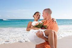 Barefoot beach wedding.