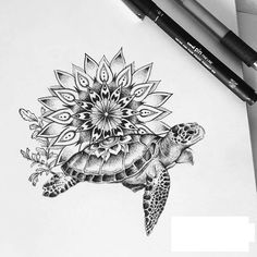 Tattoo commission for the lovely Tori ♥ ! Tattoo commission for the lovely Tori ♥ ! Mandala Tattoo Design, Full Sleeve Tattoo Design, Tattoo Design Drawings, Full Sleeve Tattoos, Animal Mandala Tattoo, Sea Tattoo Sleeve, Hand Tattoo, Tattoos Bein, Cute Tattoos
