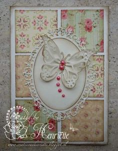 Like the colors of the patchwork. Created by Henriëtte: Serie kaarten Paper Cards, Diy Cards, Patchwork Cards, Shabby Chic Cards, Spellbinders Cards, Pretty Cards, Flower Cards, Flower Stamp, Vintage Cards