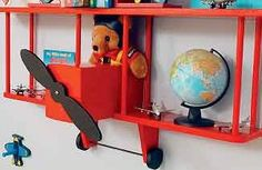 This is so awesome!    BiPlane Wall Shelf  Save 11 with Madness by Midwestclassiccrafts, $98.00
