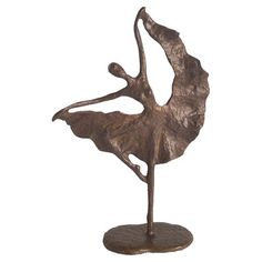 Features:  -Handcrafted and casted using the sand casting method.  -For the dance aficionado.  -Finish: Bronze.  Product Type: -Figurine.  Style: -Contemporary.  Theme: -Dancing.  Subject: -People.  F
