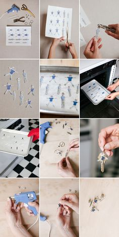 So cute for so many reasons! Just print photos right on the shrinky dink paper.  Shrinky Dink Fathers Day Gifts | Oh Happy Day!