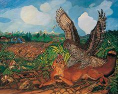 Antonio Ligabue Volpe con rapace Henri Rousseau, Marc Chagall, Renoir, Anton, Landscape Art, Cute Animals, Parma, Painting, Selection