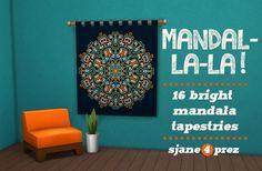 Mandal-la-la Tapestries at 4 Prez Sims4 • Sims 4 Updates