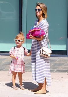 5/2/15 - Jessica Alba going to a birthday party with her daughter Haven in LA.