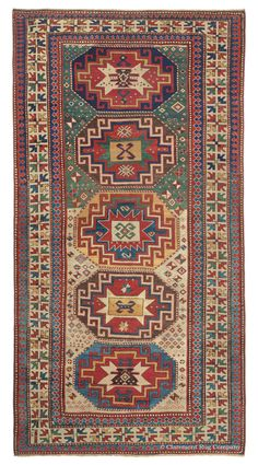 Antique Oriental Rug - Antique Carpets - Kazak Caucasian Carpet