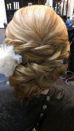 Rope braid Wedding updo.