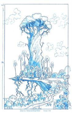 Cartoon Concept Design: Background Layout