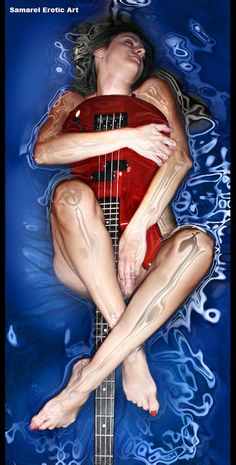 The Guitar girl - for sale on canvas print. Email me for details ~