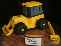 Backhoe Birthday Cake | Backhoe Cake