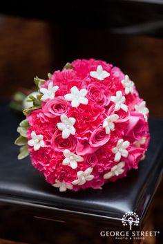 Vibrant fuschia and white floral combination!