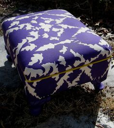 Footstool Ottoman Vintage Upcycled Furniture in by GloryBDesign, $139.95