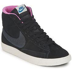 Nike BLAZER MID SUEDE PRINT Negro / Antracita 350x350