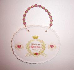 Ceramic oval plaque  You're My Dream Come by MoanasUniqueDesigns, $10.00