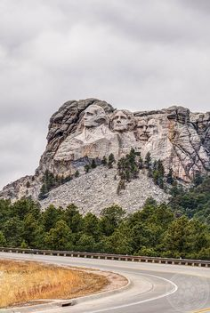 Mount Rushmore on a