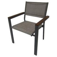 ThresholdTM Bryant Sling Stacking Chair Silver