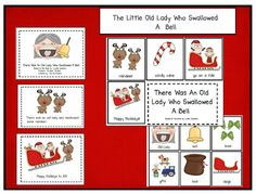 There Was an Old Lady Who Swallowed a Bell printables (reader and sequencing cards)