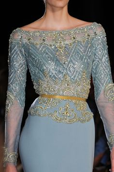 BABY BLUE & GOLD                                                                                 Elie Saab Fall 2012 Couture