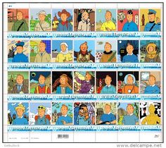 "Ukraine. Tintin | Kuifje. Sheet ""28V"". Personalized. MNH (Accept Bitcoin) - Bandes Dessinées"
