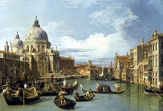 Entrance to the Grand Canal, Venice. (Canal Grande and Church of the Salute) Canaletto Giovanni Antonio Canal. Museum of Fine Arts, Houston. Venetian Painters, Francesco Guardi, Grand Canal Venice, Kunsthistorisches Museum, Venice Painting, National Gallery, National Art, Google Art Project, Francisco Goya