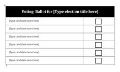 Election Ballot template. Download and customize for your ...