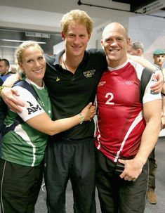 Prince Harry Photos Photos - Zara Phillips, Prince Harry and Mike Tindall pose for a photograph after competing in an Exhibition wheelchair rugby match at the Copper Box ahead of tonight's exhibition match as part of the Invictus Games at Queen Elizabeth park on September 12, 2014 in London, England. The International sports event for 'wounded warriors', presented by Jaguar Land Rover, is just days away with limited last-minute tickets available at www.invictusgames.org - Behind T...