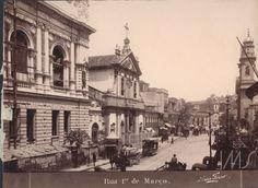 Marc Ferrez - Rua 1º de Março - 1890