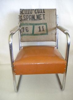 vintage chrome Bean Bag Chair...by Miscellanea Margaret & 1952 RCA Victor Studios Chrome Eames Era Mid Century Elvis Chair ...