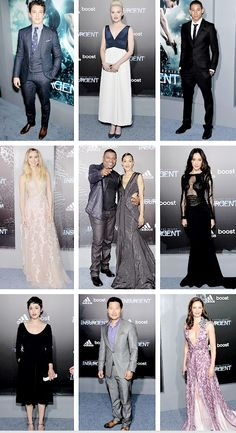 #Insurgent Cast + Veronica #Roth at the Insurgent NYC Premiere