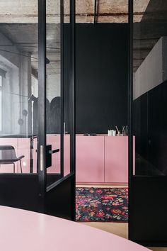 pink kitchen Moscow-based Crosby Studios is inspired by classical Roman architecture, Japanese interiors, and Scandinavian minimalism — basically anywhere but Russia. Interior Ikea, Kitchen Interior, Interior And Exterior, Kitchen Design, Kitchen Decor, Interior Logo, Roman Architecture, Interior Architecture, Architecture Collage