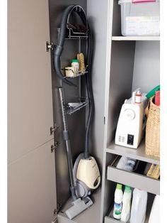 Rangement cuisine Plus Utility Room Storage, Laundry Room Organization, Laundry Room Design, Cupboard Storage, Kitchen Storage, Locker Storage, Closet Storage, Cleaning Cabinets, Cleaning Closet