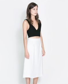 CROPPED TOP WITH ZIP from Zara