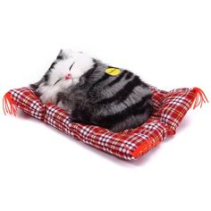 2016 Lovely Simulation Animal Doll Plush Sleeping Cats Toy with Sound Kids Toy Birthday Gift Doll Decorations stuffed toys  #mensfashion #jeans #yeezus #modernnotoriety #ootd #yeezy #swag #adidasultraboost #fashionista #outfit