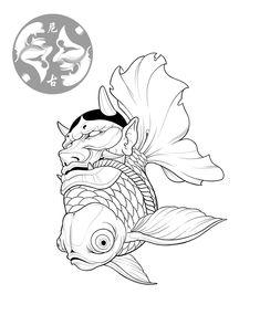 20 Types of Goldfish for Aquarium (Oranda, Shubunkin, Bubble Eye, Etc) Japanese Drawings, Japanese Tattoo Art, Japanese Tattoo Designs, Japanese Art, Irezumi Tattoos, Maori Tattoos, Body Art Tattoos, Art Sketches, Art Drawings