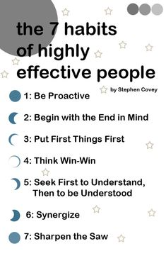 the 7 habits of highly effective people  - steven covey