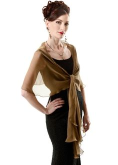 Items similar to Evening Silk Chiffon Bronze - Black Fluttering Scarf Wrap. on Etsy Evening Shawls, Evening Dresses, Silk Chiffon, Silk Dress, Fascinator, Bronze, Shawls And Wraps, Simple Outfits, Etsy