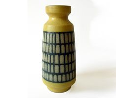 Strehla Vase // East German Pottery // Ceramic // Yellow // mid century on Etsy, Sold