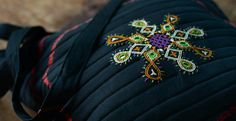 Cotton bagr made Rabari embroidery and sewing