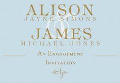 Regency  Engagement Invitation Card in Eggshell Blue  - Impressive Invitations
