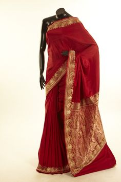 Banarsi- satin saree with blouse
