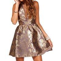 Hera-Gunmetal Homecoming Dress
