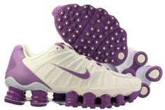 Amazon.com: Womens Nike Shox TLX Running Shoes White / Velvet Purple 488344-