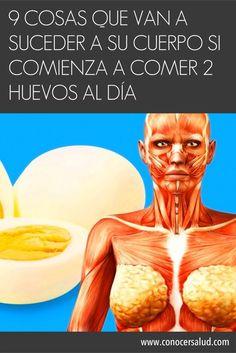 9 cosas que van a suceder a su cuerpo si comienza a comer 2 huevos al día #salud