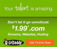 Get a new .com domain name with a Godaddy domain coupon for only $1.99